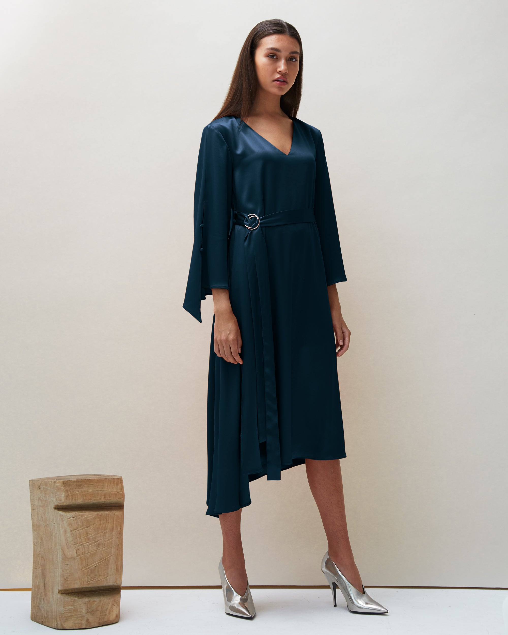 Dua Dress in Navy | Made-to-order
