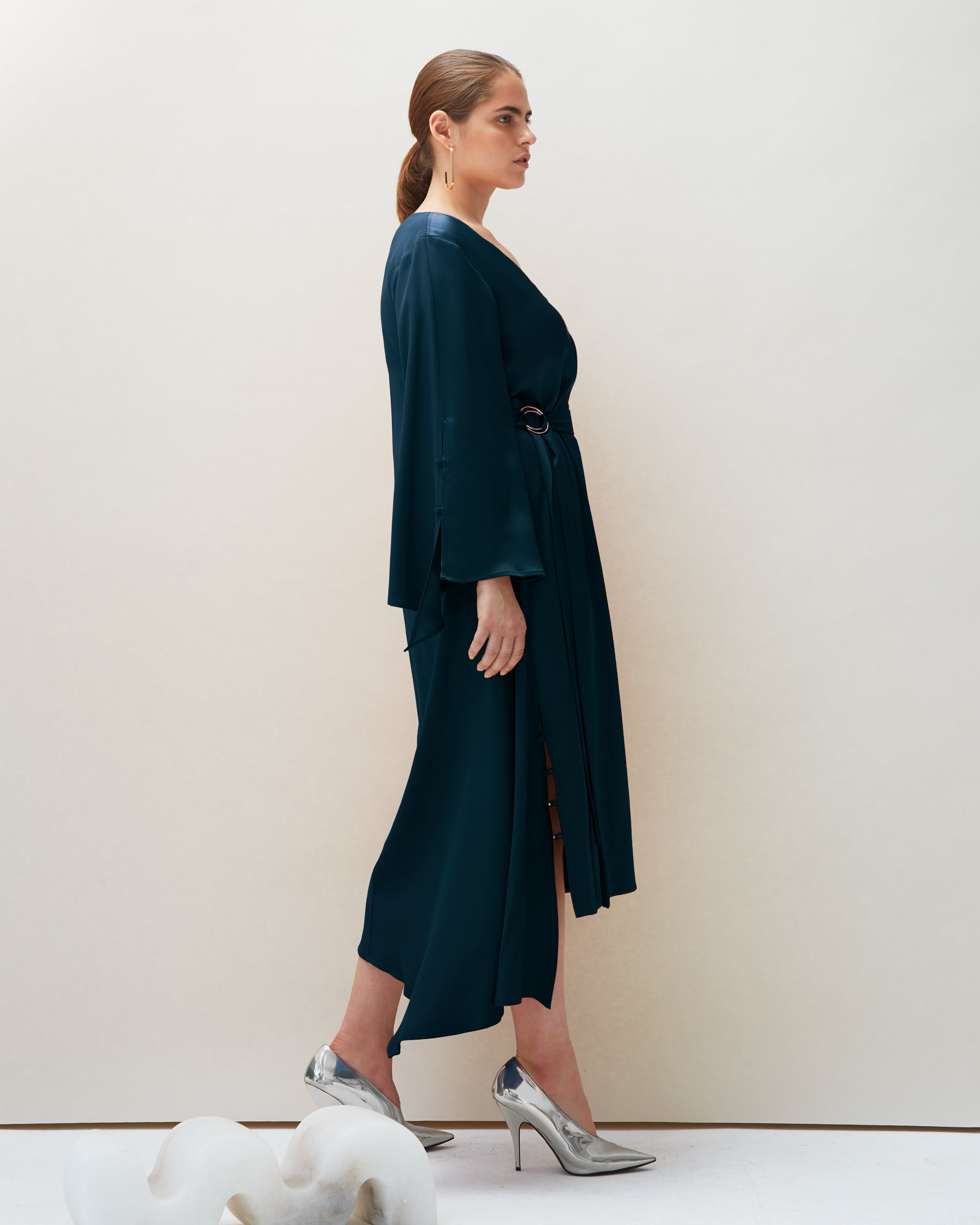 Dua Dress in Navy