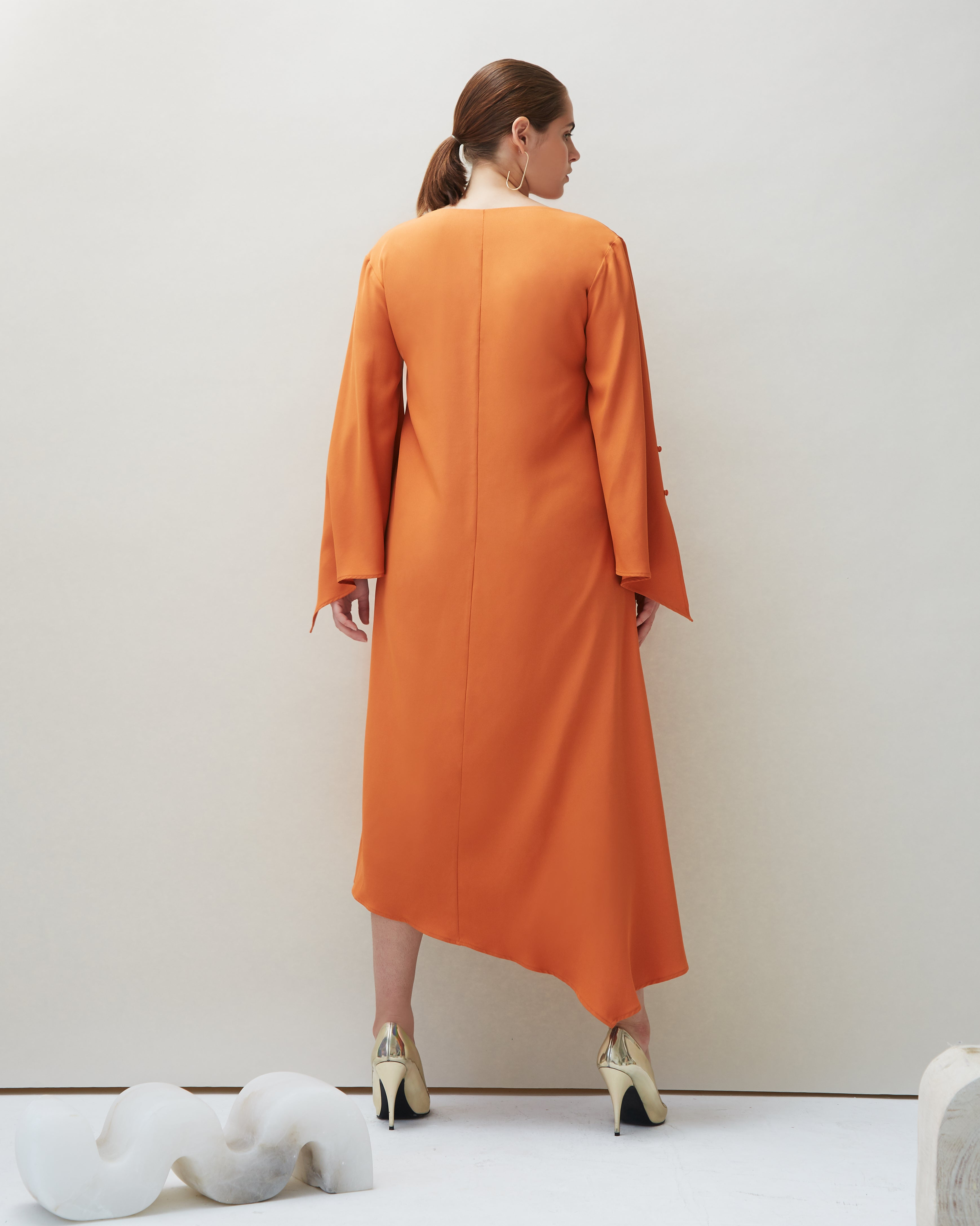 Dua Dress in Orange - COYAN