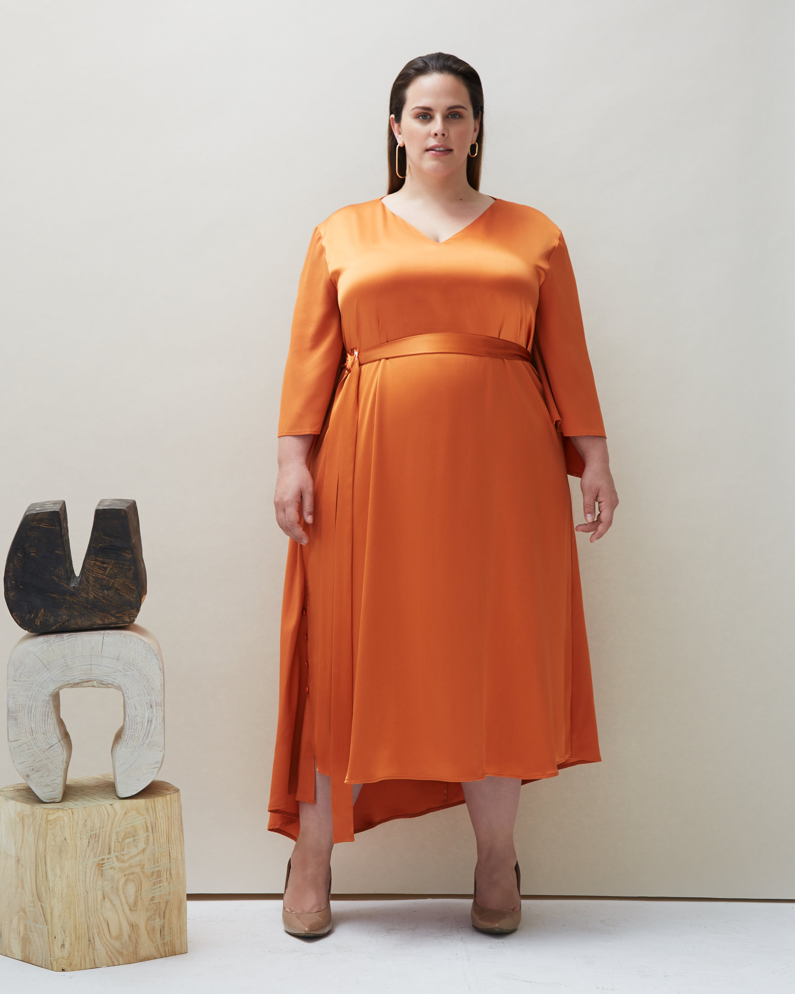 Dua Dress in Orange - COYAN - Plus size