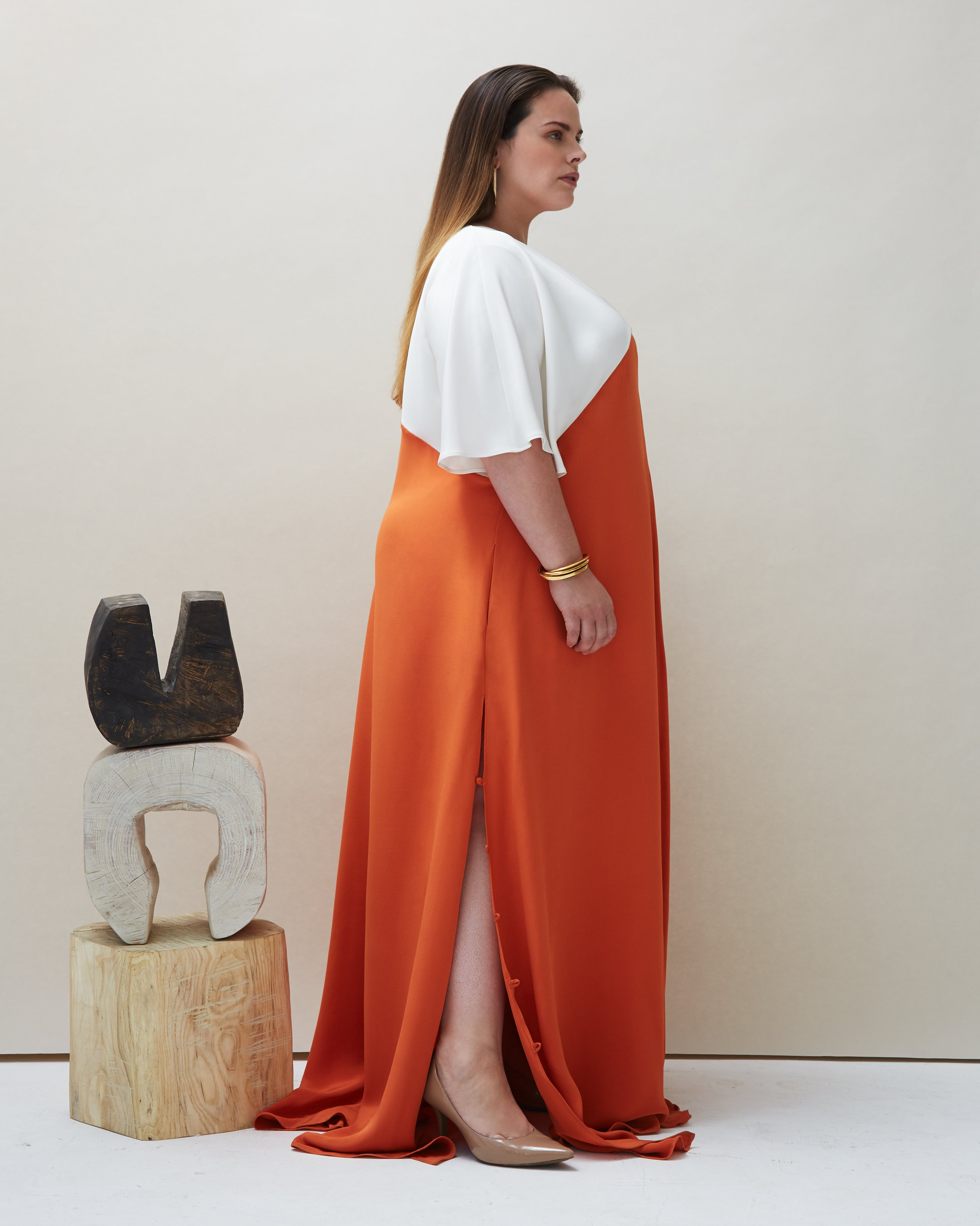 Seta Gown in Orange - COYAN