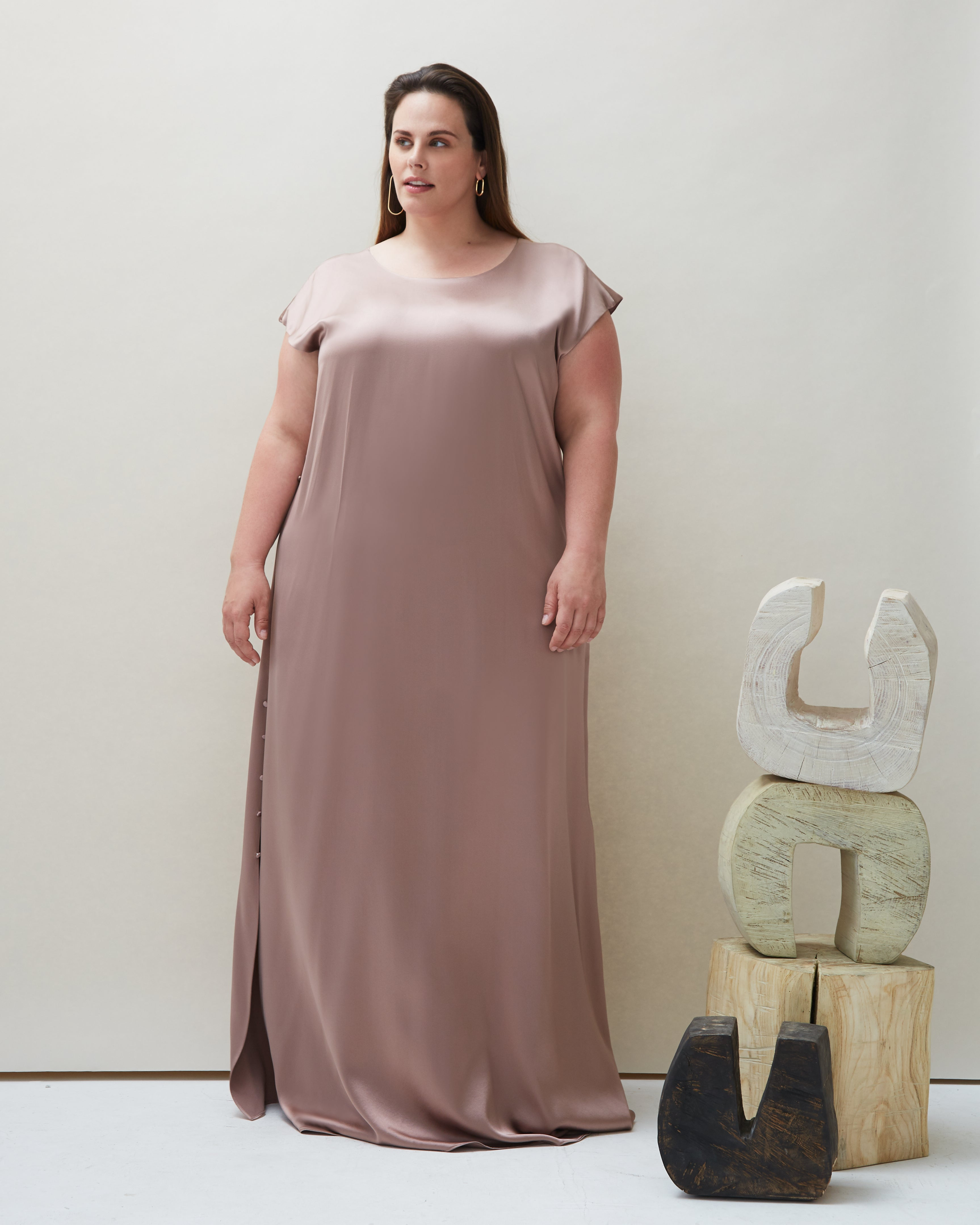 Pia Dress in Blush - COYAN - Plus Size