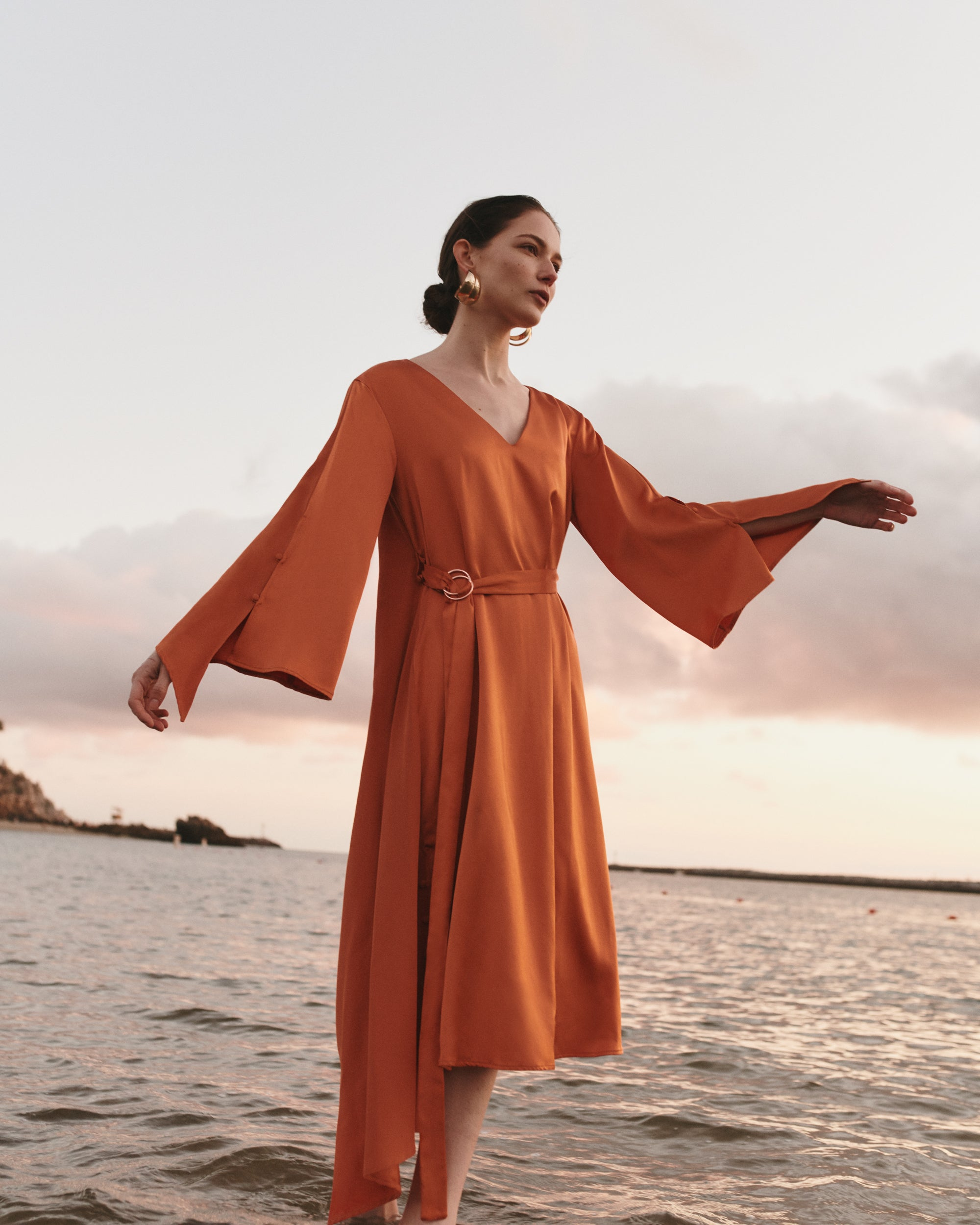 Dua Dress in Orange