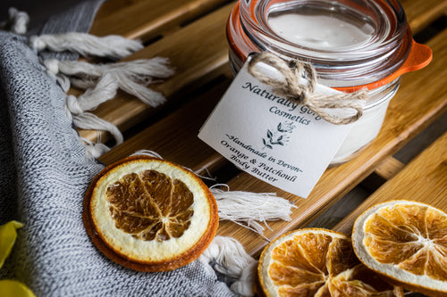 Sweet orange and patchouli body butter