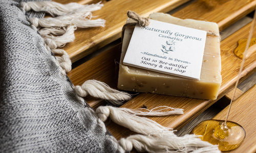 Oat so bee-autiful, hand made honey and oat soap bar 100g