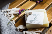 Load image into Gallery viewer, Lavender hand made soap bar 100g