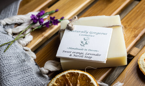 Sweet orange, lavender and neroli hand made soap bar 100g