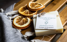 Load image into Gallery viewer, Orange and bergamot hand made soap bar 100g