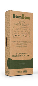 Bambaw safety razor blades