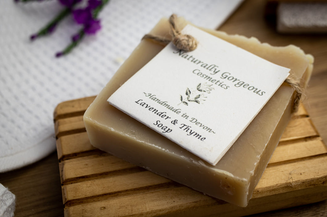 Thyme to unwind, lavender & thyme hand made soap bar 100g