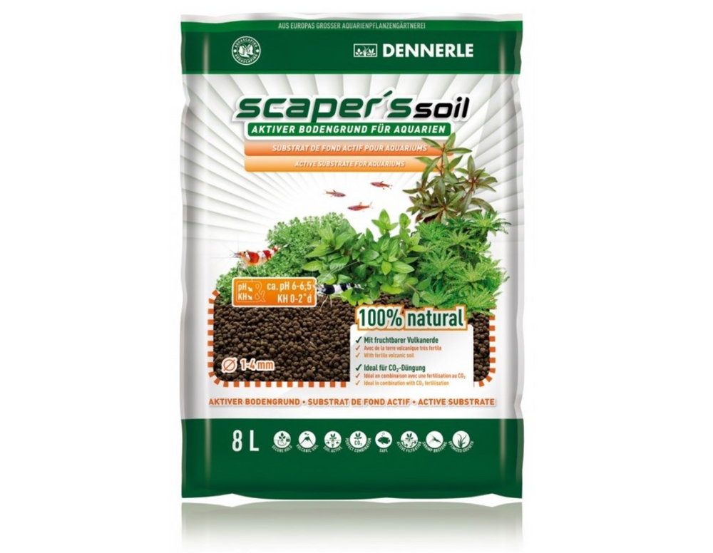 Sol fertil Dennerle Scapers Soil 1-4mm 4 l