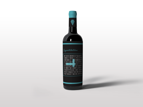 Custom Wine Label - Word Search
