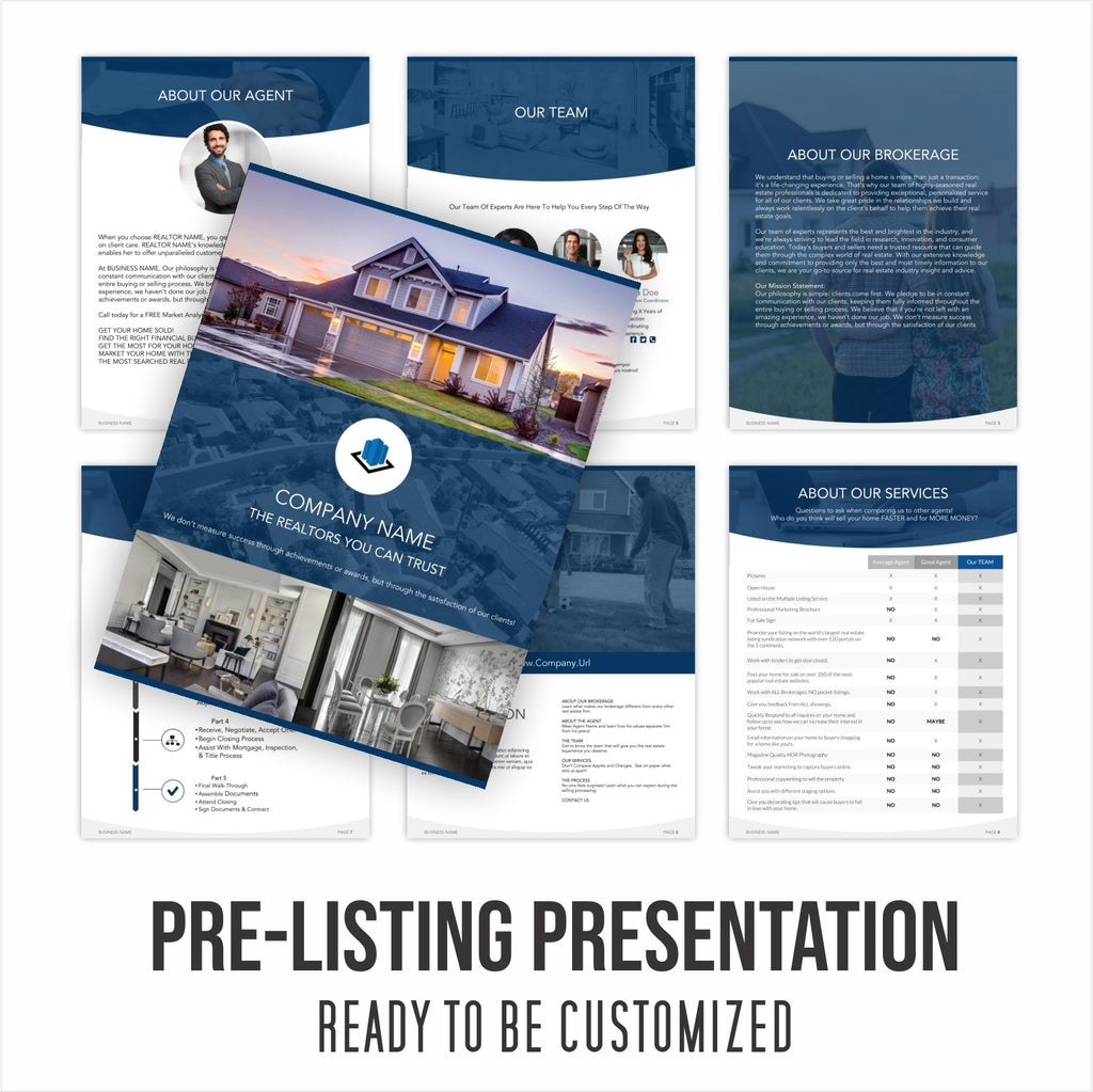 Pre-Listing Presentation - Ready For You to Customize