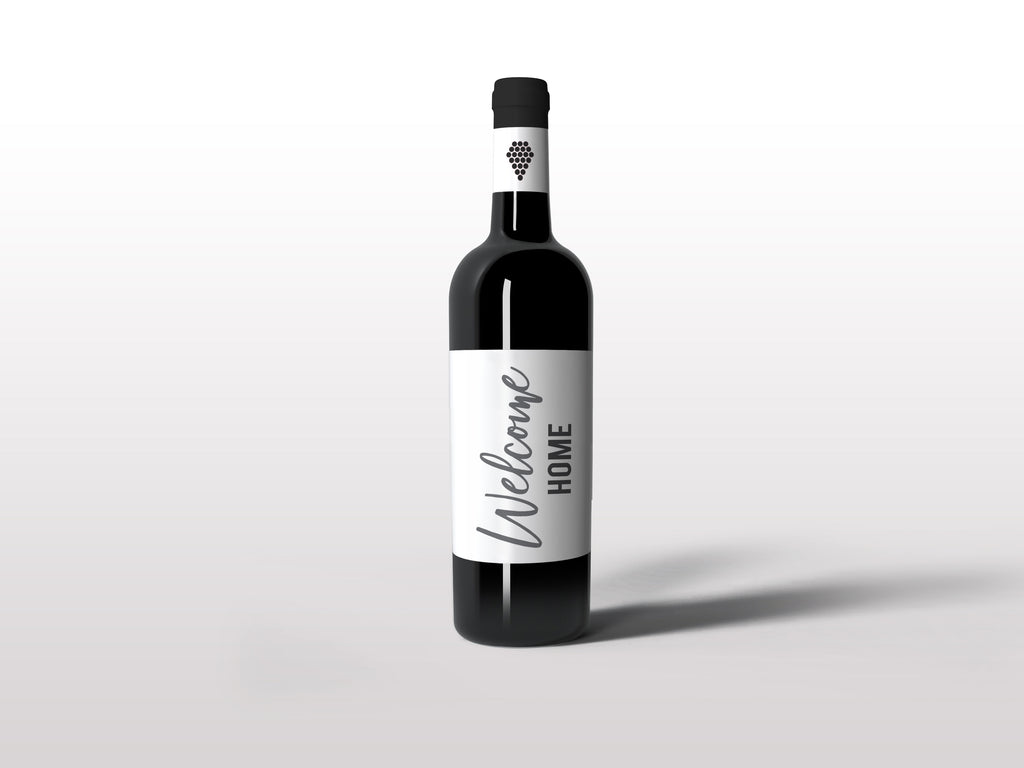 Custom Wine Labels - Welcome Home Simple