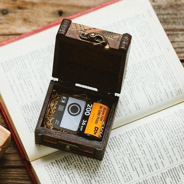 Ancient Box for Camera Roll Keychain