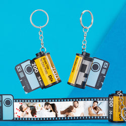 Custom Colorful Camera Roll Keychain Romantic Customized Gifts