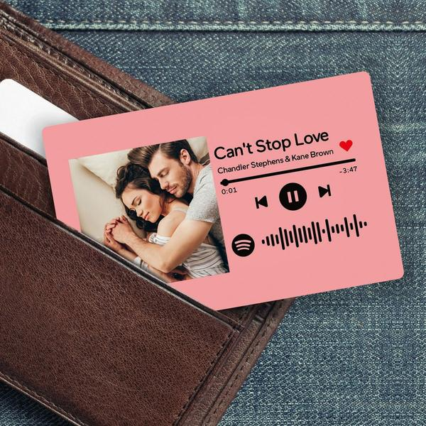 Custom Spotify Music Code Wallet Card Multi-colored