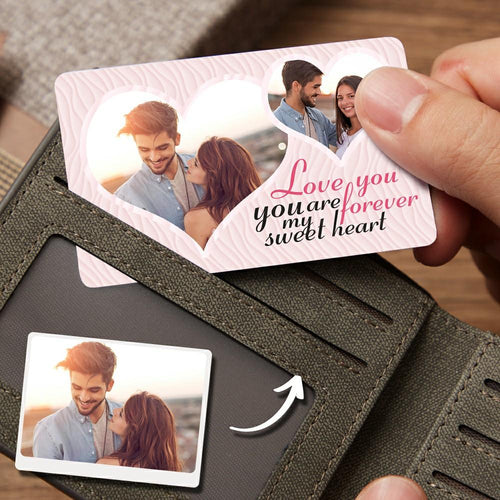 Custom Photo Wallet Insert Card - Love You Forever