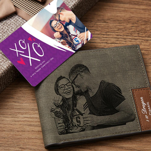 Custom Photo Wallet Insert Card  - XOXO