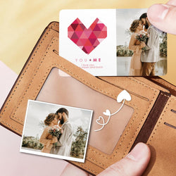 Custom Valentine's Day Photo Wallet Insert Card