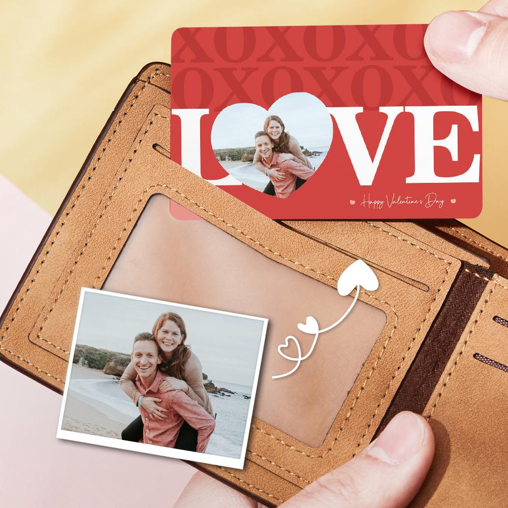 Custom Couple Photo Wallet Insert Card Valentine's Day Gift