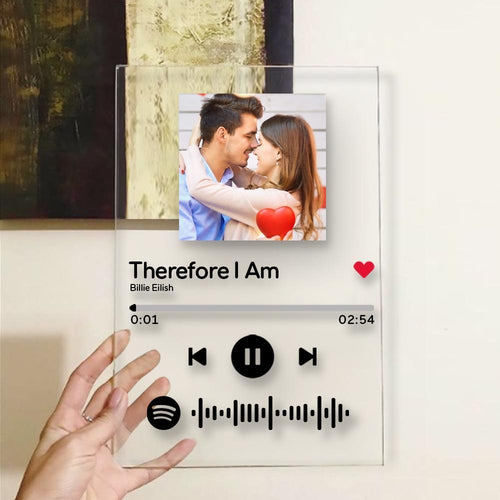 Custom Spotify Code Music Plaque Valentine`s Gift-For Family(4.7IN X 6.3IN)