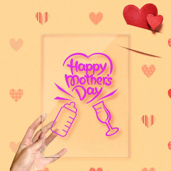 Happy Mother's Day Cheers Acrylic Frame Decoration