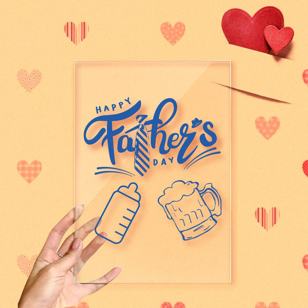 Happy Father's Day Cheers Acrylic Frame Decoration
