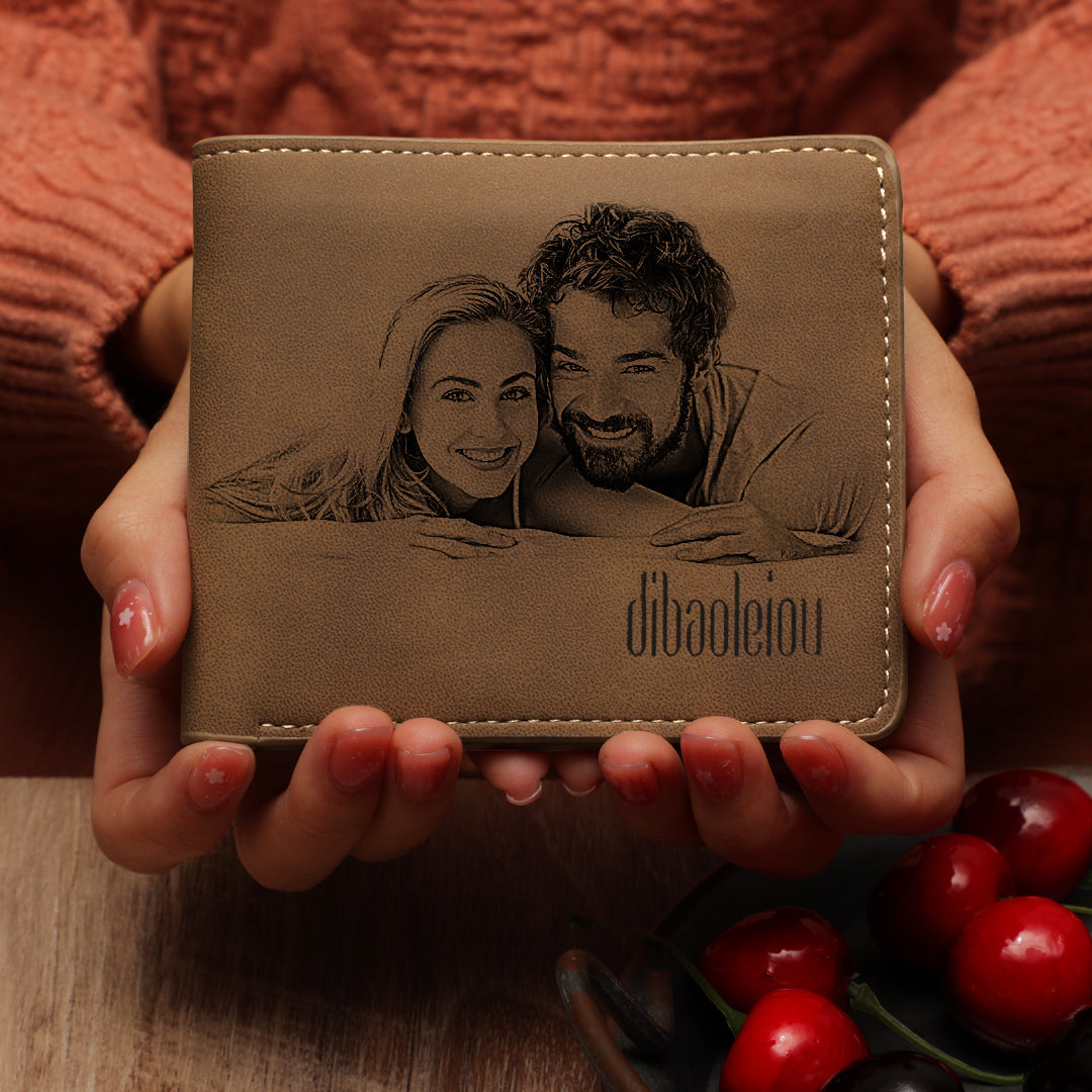 UK Custom Photo Wallet - I Love My Family