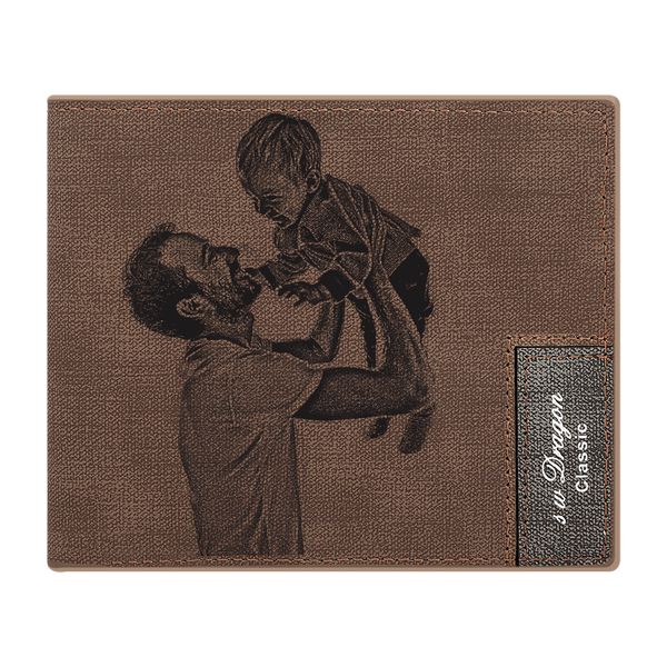 MEN'S CUSTOM PHOTO WALLET - BROWN