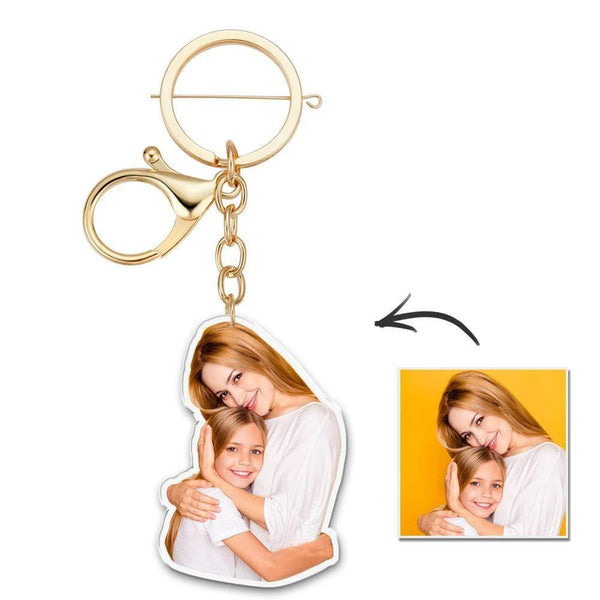 Custom Photo Keychain Unique Design for Mom