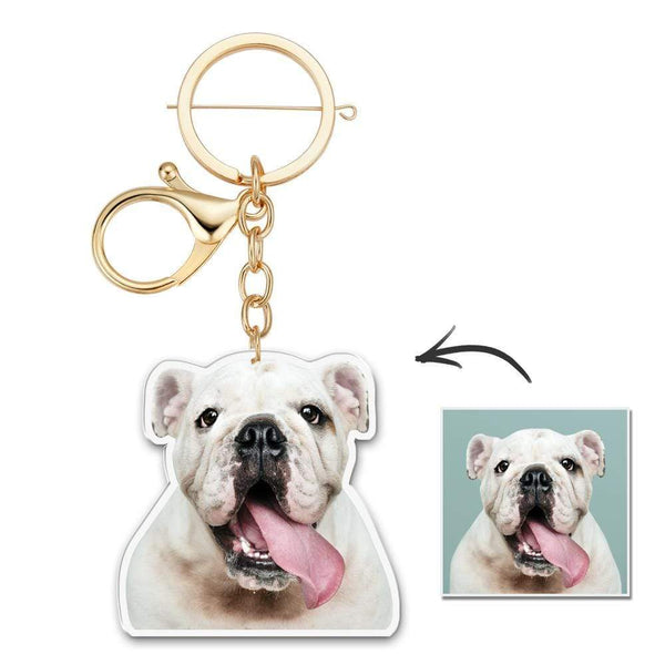 Custom Photo Keychain Unique Design In Memory Pet Keychain