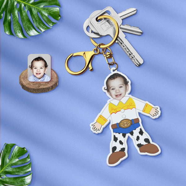Acrylic My Face Keychain Custom Keychain Face Body Keychain-Cartoon