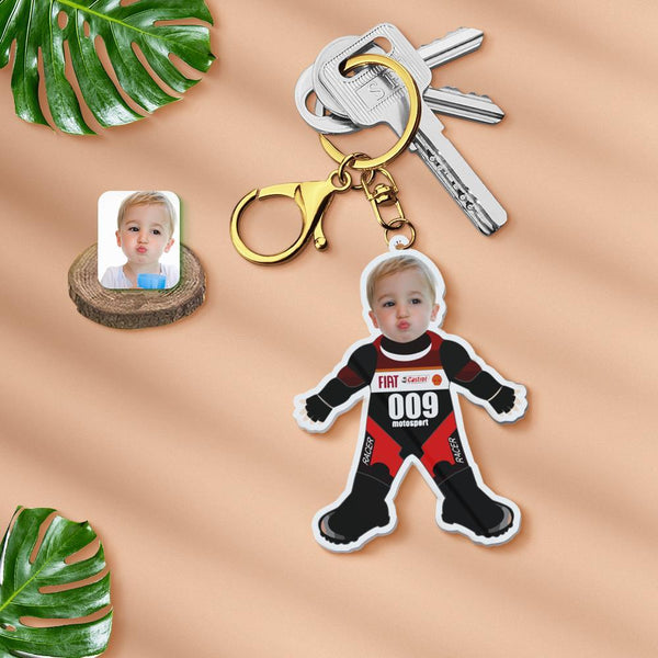 Acrylic My Face Keychain Custom Keychain Face Body Keychain-Gifts for Hero