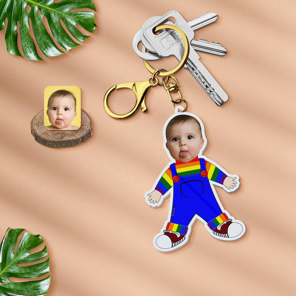 Acrylic My Face Keychain Custom Keychain Face Body Keychain Personalized Photo Keychain Gift - Scrub Suit