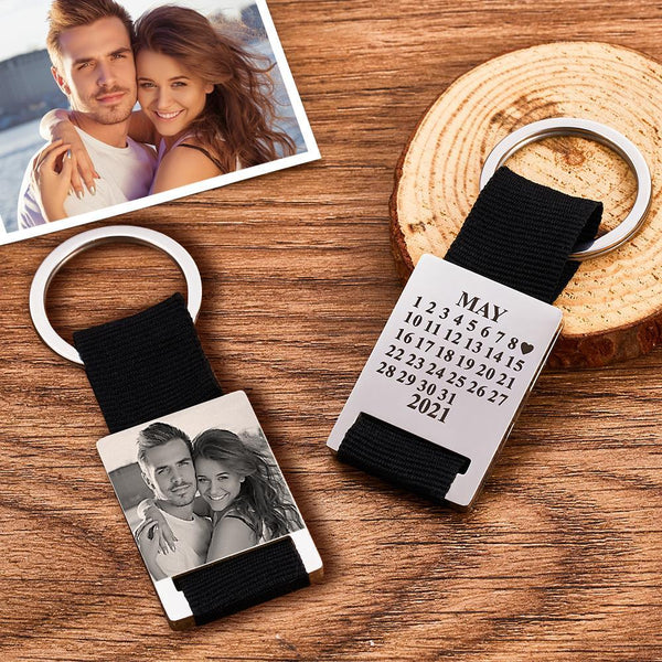 Custom Photo Engraved Calendar Keyring