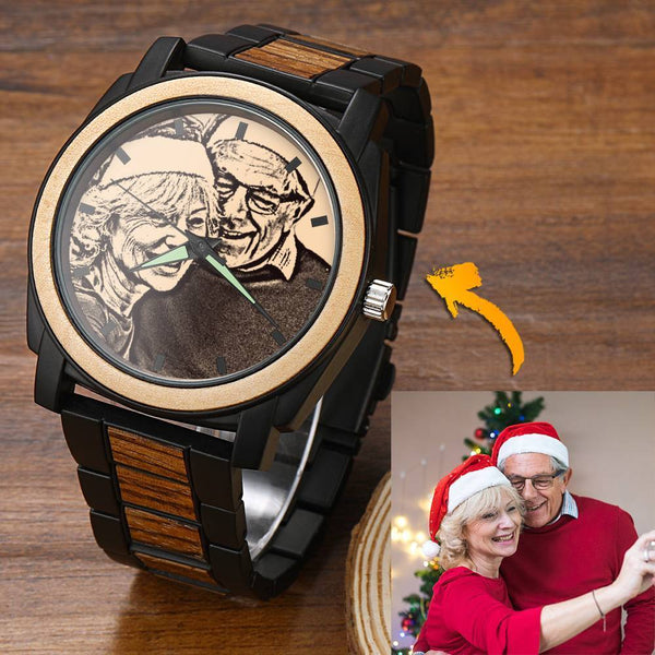 Personalized Photo Watch Engraved Watch-Christmas Gift