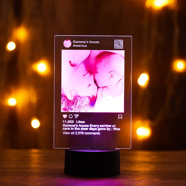 Custom Instagram Night Light with 7 Colors
