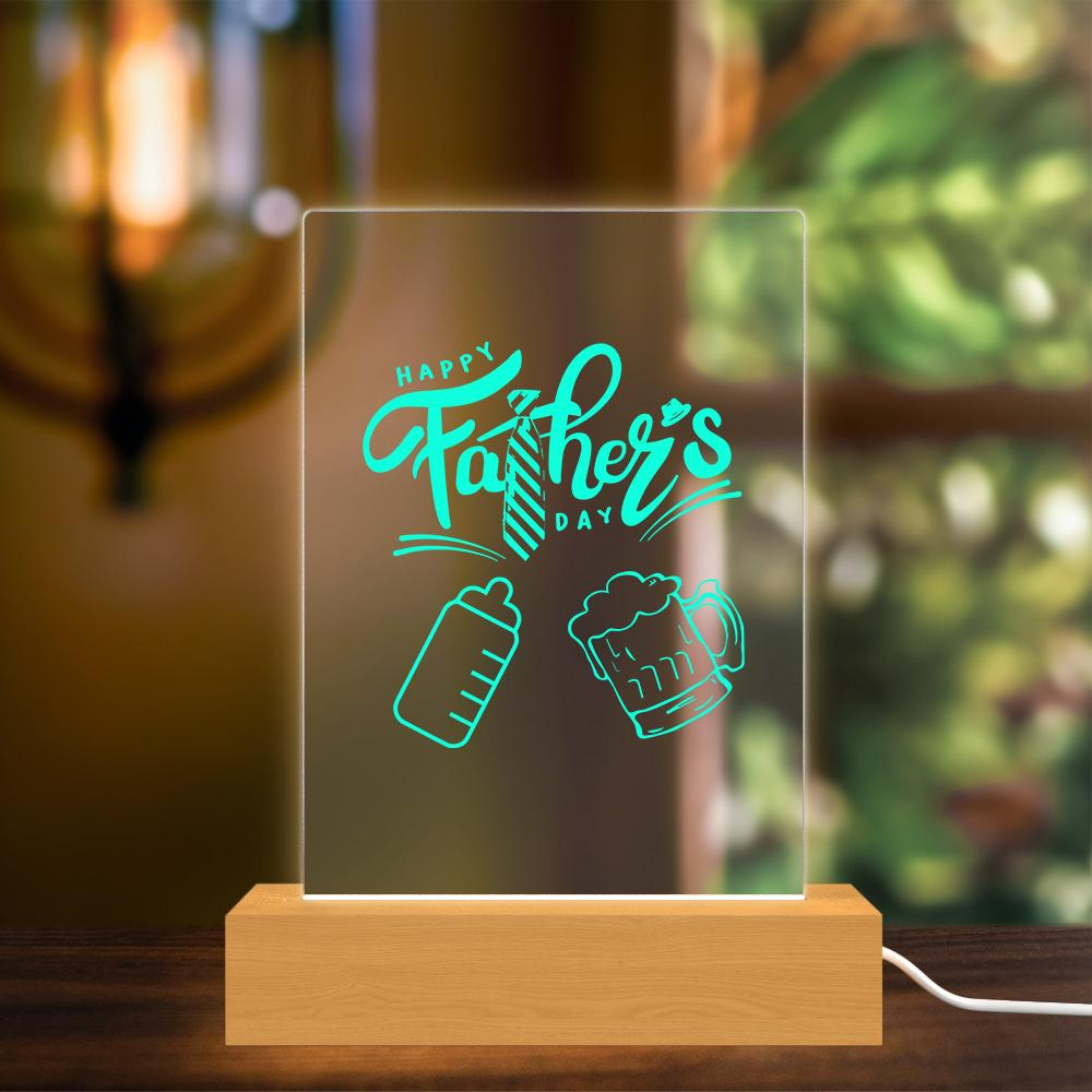 Father's Day Gift|Cheers Acrylic Night Light