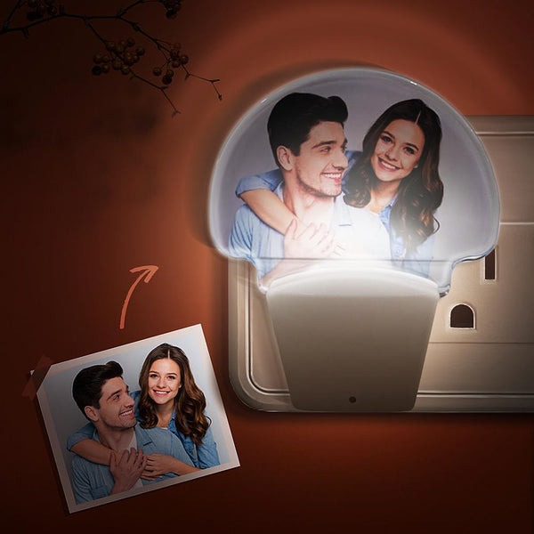 Custom Plugin Night Lights With Your Photo - Auto Sensor Warm Sweet Nightlights