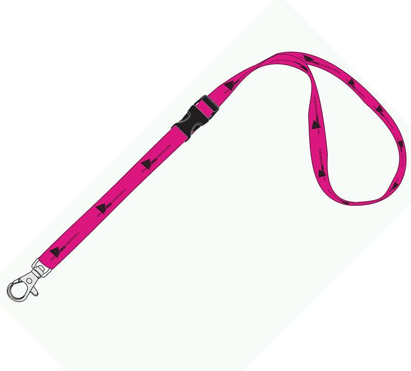 15mm Standard Logo Lanyard with 2 Safety Breakaways