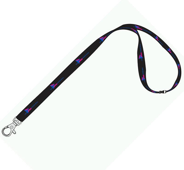 15mm Standard Logo Lanyard with 1 Safety Breakaway
