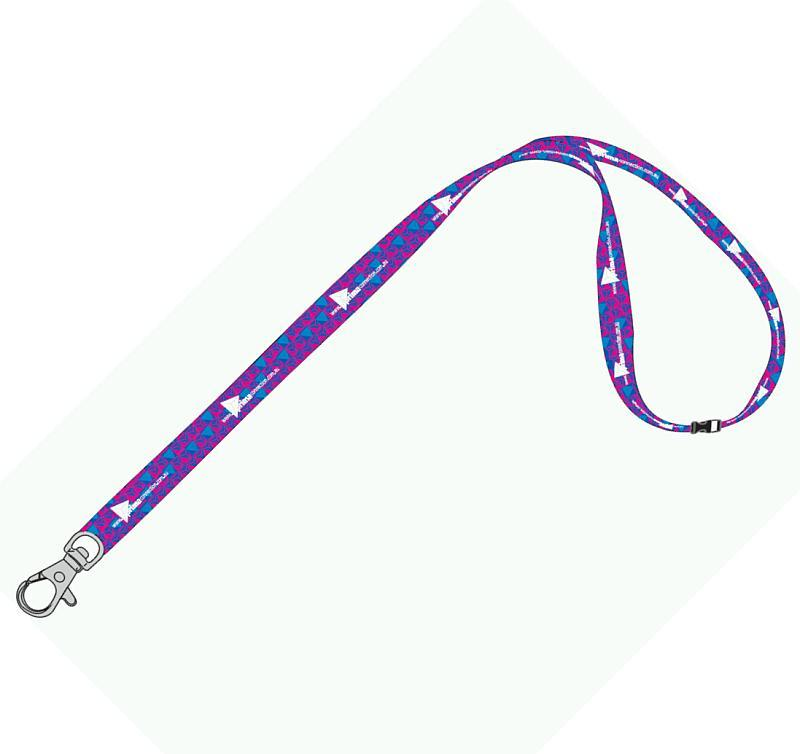 20mm Full Colour Logo Lanyard with 1 Safety Breakaway