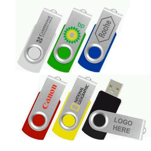 A Logo Swivel USB Flash Drive