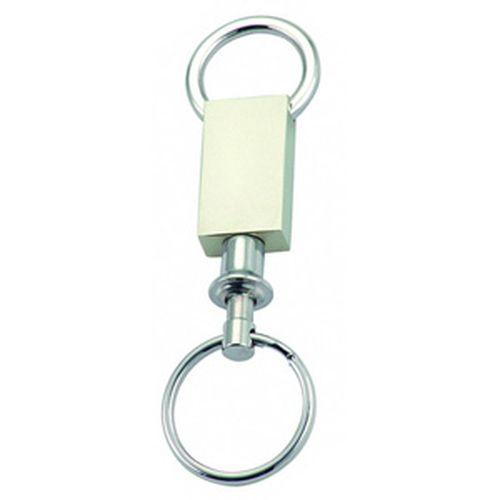 Arc Rectangle Pull Apart Keyring