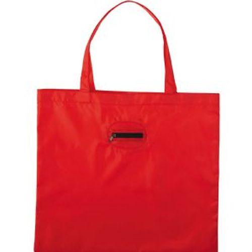 Arrow Nylon Tote Bag with Zippered Pouch