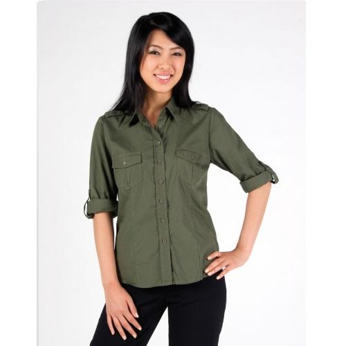 Aston Military Shirt - Ladies Long Sleeve