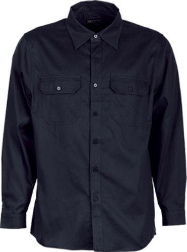 San Cotton Drill Long Sleeve Work Shirt