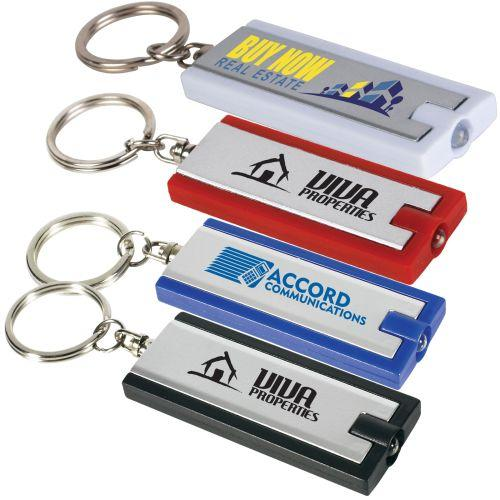 Bleep Rectangular Flashlight Keyring