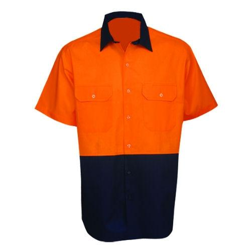 Hi Vis Cotton Twill Shirt Short Sleeve - Day Use